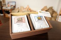 「盈舟屋珈琲」オリジナルブレンドセット こもれびブレンド(豆)季節のブレンド(豆)各200g