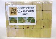 おおさか河内材使用 ヒノキの積木 100ピース