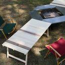土佐ひのきの折りたたみキャンプテーブルKUROSON400-F