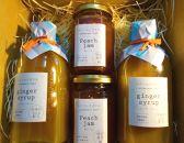 <限定>南島原産ジンジャーシロップと特別栽培の桃(日川白鳳種)で作ったジャムのセット
