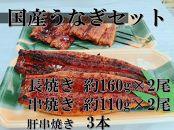 002-381-C国産うなぎ長焼き・串焼き・肝串焼きセット