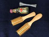 つげブラシブロー(大)・ブロー(小)&お手入れ用品のセット