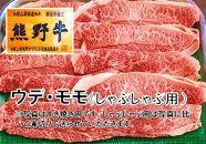 和歌山県特産高級和牛『熊野牛』しゃぶしゃぶ用ウデ・モモ600g(自家牧場で育てました!)