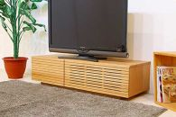 風雅テレビボードテレビ台W1200ブラックチェリースリット