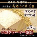 【減農薬・有機肥料】<計8kg>鳥海山の恵み庄内米2種食べくらべセット30年産