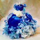 プリザーブドフラワー「シンデレラの青いドレス」