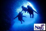 青の洞窟体験ダイビング+熱帯魚と遊ぶ餌付け体験ダイビング【2名様】