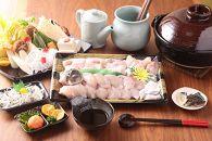 【若男水産】【淡路島3年とらふぐ】花ふぐ鍋セット/冷凍(5~6人前)