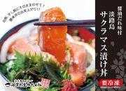 【若男水産】とろける食感!淡路島サクラマス漬け丼(3人前)