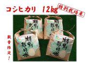 ★10月末受付終了★★H30年産★新米★美浦産特別栽培米コシヒカリ『おかだいらの恵』12kg(3kg×4)★