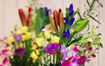 お供え花、墓花セット「安らかな祈りのお花」お彼岸、ご命日、ご法要、お盆等にあわせてお届けいたします<LotusGarden>