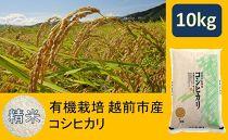 【精米】有機栽培越前市産コシヒカリ 10kg(有機JAS)