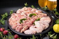 九州産華味鳥鍋もの、バーベキュー用盛合せ4品セット約2400グラム