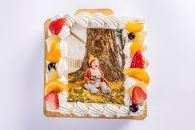 MR02-13サプライズに最適!写真ケーキ3~6人用Sサイズ(生クリーム・生チョコ)