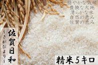 【H30年収穫米】佐賀県産『さがびより(精米5kg)』