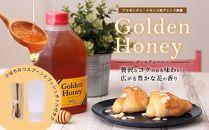 ゴールデンハニー2kg蜂蜜セット【スプーン・ボトル付】贅沢なコクのある味わいの大容量の純粋蜂蜜