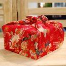 【生花バラ風呂セット】コローレ風呂敷お使い包み-赤-