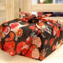 【生花バラ風呂セット】コローレ風呂敷お使い包み-黒-