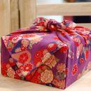 【生花バラ風呂セット】コローレ風呂敷お使い包み-紫-