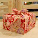 【生花バラ風呂セット】コローレ風呂敷お使い包み-桃-
