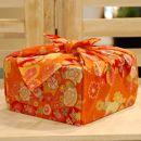 【生花バラ風呂セット】コローレ風呂敷お使い包み-橙-