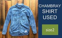 CK09 【size2】CHAMBRAY SHIRT USED
