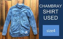 CK11 【size4】CHAMBRAY SHIRT USED