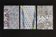 【東京染小紋】型染めと手差しのグラデーションを楽しめる御朱印帳(麻の葉マルチカラー手差し型)
