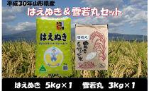 平成30年産はえぬき&雪若丸セットNO<野川ファーム>