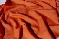 (オレンジ)【現代の名工作】上品な光沢の華やかなシルクウールストール