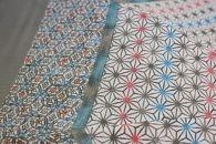 【東京染小紋】世界に一つのグラデーション 伝統の小紋を掛け合わせた手差し型染UV日傘(麻の葉と亀甲)