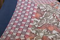 【東京染小紋】世界に一つのグラデーション伝統の小紋を掛け合わせた手差し型染UV日傘(唐草と市松)