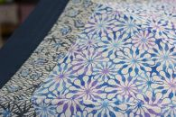 【東京染小紋】世界に一つのグラデーション伝統の小紋を掛け合わせた手差し型染UV日傘(花寄せと松竹梅)