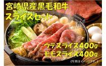 宮崎県産黒毛和牛スライスセット