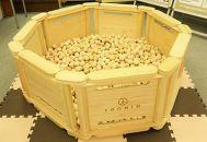 檜のおもちゃ IKONIH ヒノキプールセット 直径1.0M