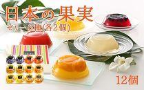 日本の果実フルーツゼリーセット12個