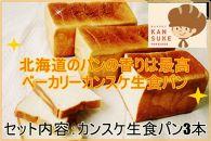 そのままでしっとりモチモチおいしい生食パン!北海道産小麦の生食パン3本セット