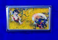 七宝かさね京琥珀の名刺ケース(風神雷神図屏風)