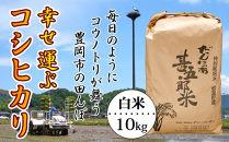 【新米・令和元年産】幸せ運ぶコシヒカリ(白米)10kg