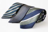 シルク100%で胸元を際立出せる寒色系ネクタイ3本セット