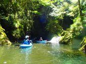 竜神渓谷の湖でカヤック体験