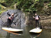 竜神渓谷の湖でSUP体験