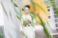 (Lサイズ)世界が認める着物デザイナー重宗玉緒×伝統工芸「多摩織」正絹無地紬着物(お仕立て上がり)