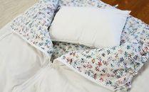 【エコな羽毛】寝袋クッション/ペタル【アップサイクルダウン】