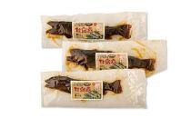 <山椒の実入り>イワナ、ヤマメ、ニジマスの甘露煮詰合せ3本セット