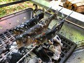 イワナ(バーベキュー用串刺し済:1尾約100g)10尾セット