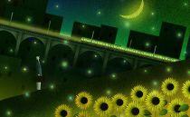 インテリアアート「夜更けのひまわり」