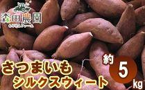さつま芋「シルクスウィート」約5kg/S~Lサイズ/森田農園/日曜市農家8代目