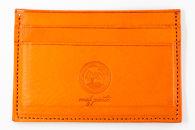 mafpintoレザーカードケースオレンジシュリンク