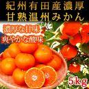 ■紀州有田産濃厚甘熟温州みかん 5kg